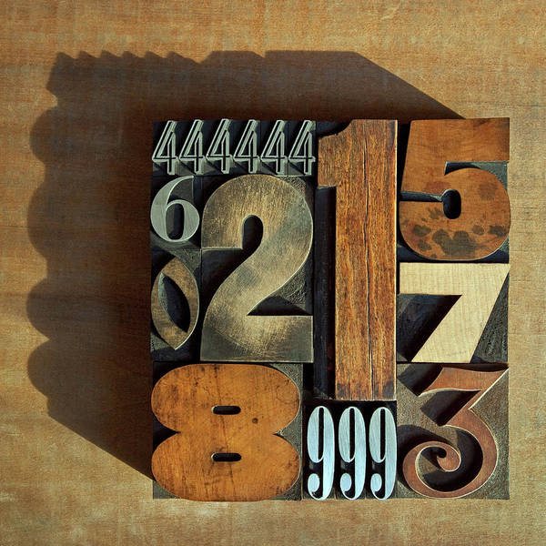 1 Photograph - Letterpress Numbers by Daryl Benson