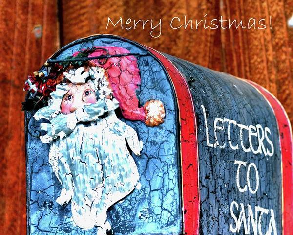 Photograph - Letters To Santa Greeting by Jerry Sodorff