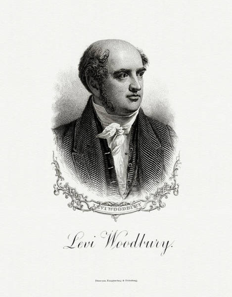Matter Painting - Levi Woodbury by The Bureau of Engraving and Printing