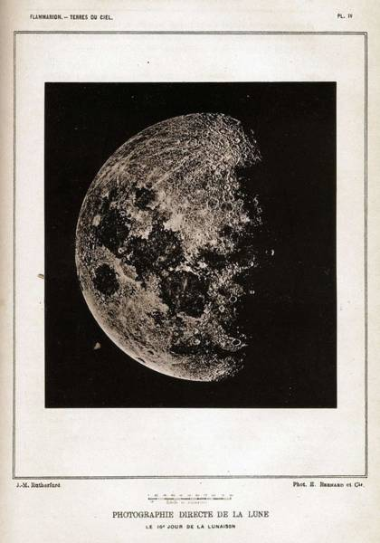 Wall Art - Painting - Lewis Morris Rutherfurd  1816   1892    Photographie Directe De La Lune  Ca  1884 Woodburytype by Celestial Images
