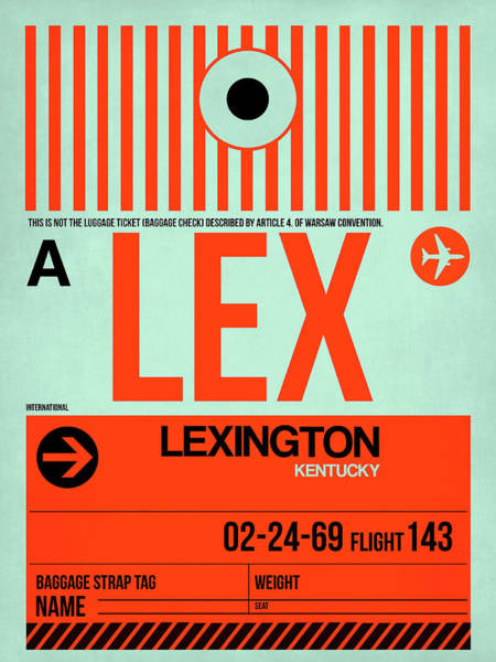 Wall Art - Digital Art - Lex Lexington Luggage Tag I by Naxart Studio