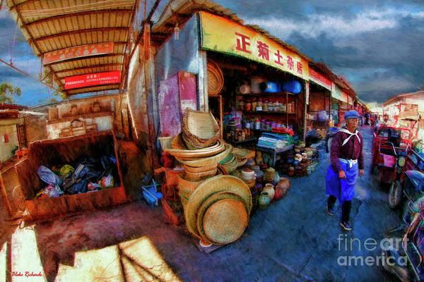 Photograph - Li Jiang Chinese Farmers Market by Blake Richards