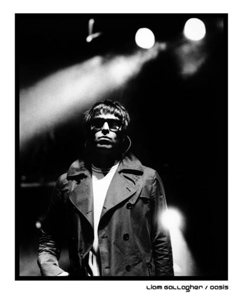 Wall Art - Photograph - Liam Gallagher Of Oasis Performing by Stephen Albanese