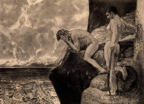 Wall Art - Painting - Liberation Of Prometheus By Hercules, The Freed Prometheus, 1894 by Max Klinger