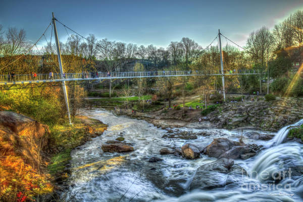 Photograph - Liberty Bridge Reedy River Falls Park Greenville South Carolina Art by Reid Callaway