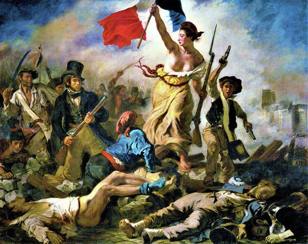 Wall Art - Painting - Liberty Leading The People - Digital Remastered Edition by Eugene Delacroix