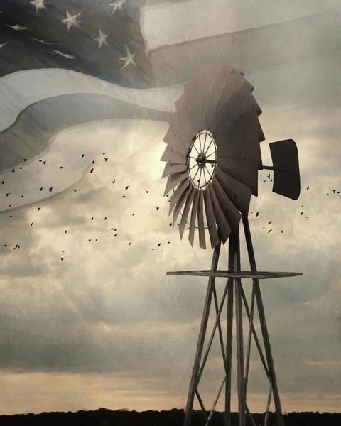 Stripe Mixed Media - Liberty by Lori Deiter
