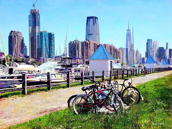 Photograph - Liberty State Park - Parked Bicycles by Susan Savad