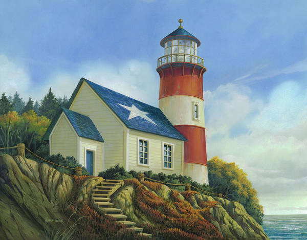Wall Art - Painting - Liberty's Light by Michael Humphries