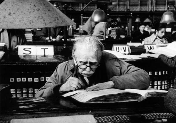 Learning Photograph - Library by Bert Hardy