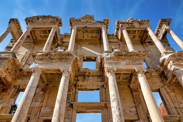 Photograph - Library Of Celsus by Fabrizio Troiani