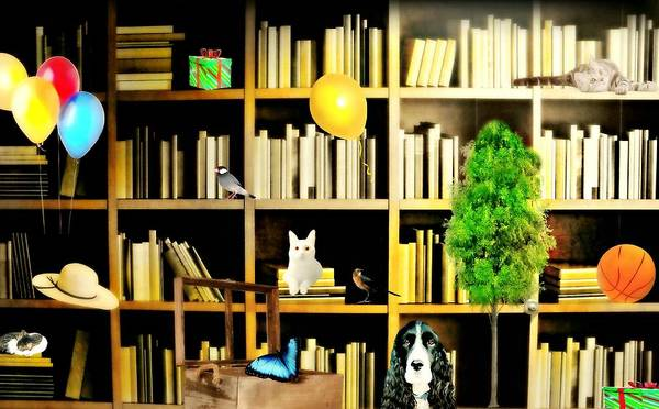 Cat In The Hat Wall Art - Photograph - Library Science by Diana Angstadt