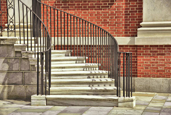 Photograph - Library Steps by JAMART Photography