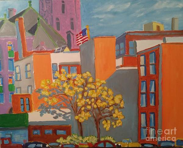 Courthouse Towers Painting - Library View by Rodger Ellingson