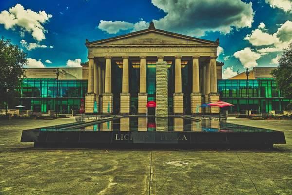 Downtown Raleigh Wall Art - Photograph - Lichten Plaza And Raleigh Memorial Auditorium by Mountain Dreams