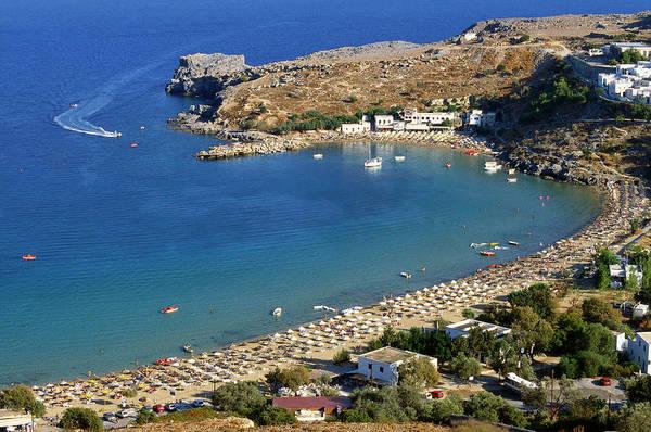 Dodecanese Photograph - Lidos Beach, Rhodes, Greece, Europe by Robertharding