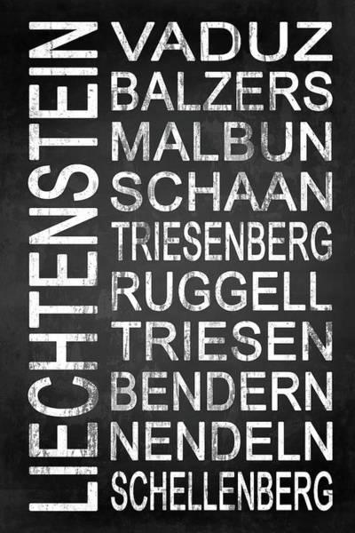 Liechtenstein Digital Art - Liechtenstein 1 by Melissa Smith