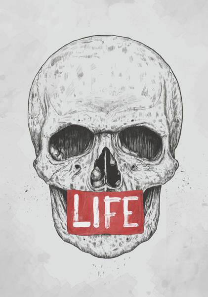 Logo Wall Art - Mixed Media - Life by Balazs Solti