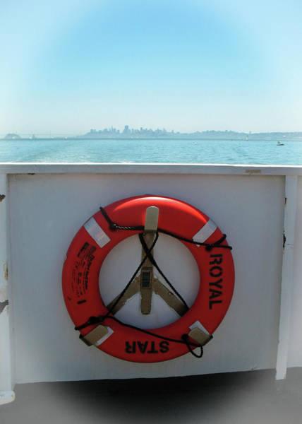 Photograph - Life Buoy On San Francisco Bay Ferry by Connie Fox