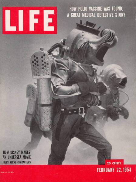 Life Cover 02-22-1954 Underwater Shot Art Print by Peter Stackpole