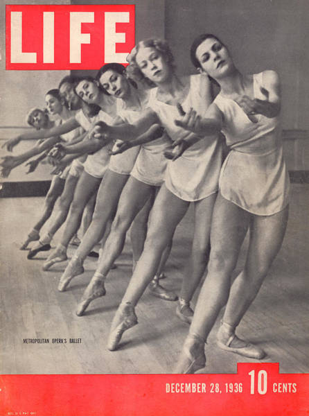 Photograph - Life Cover 12-28-1936 W. Members Of The by Alfred Eisenstaedt