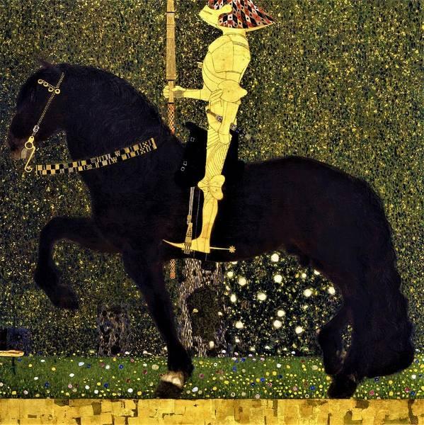 Wall Art - Painting - Life Is A Struggle, Golden Rider - Digital Remastered Edition by Gustav Klimt