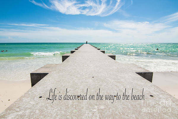 Photograph - Life Is Discovered On The Way To The Beach by James Hennis