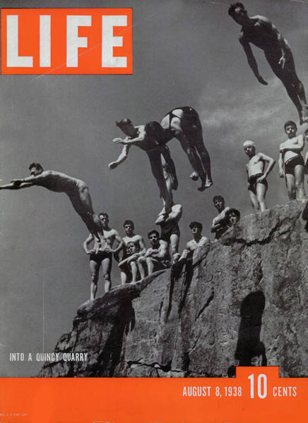 Underwater Diving Photograph - Life Magazine Cover August 8, 1938 by Arthur Griffin