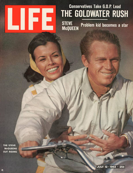 Steve Mcqueen Photograph - Life Magazine Cover June 12, 1963 by John Dominis