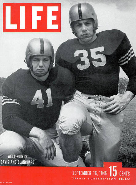 Football Helmet Photograph - Life Magazine Cover September 16, 1946 by Alfred Eisenstaedt