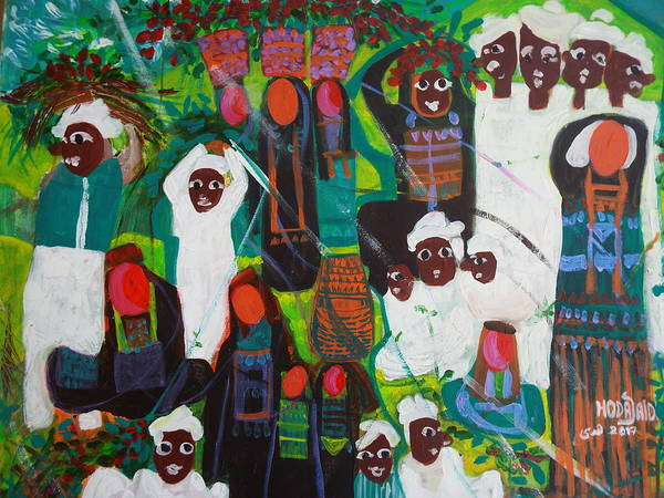 Painting - Life Of Nubians by Hoda Said Ibrahim