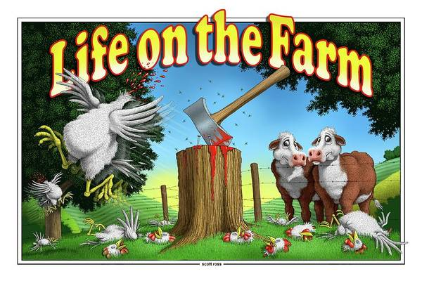 Digital Art - Life On The Farm by Scott Ross