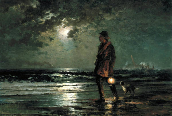Wall Art - Painting - Life Saving Patrol, 1893 by Edward Moran