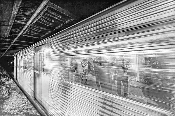 Photograph - Life Speeds By In Black And White by Kay Brewer