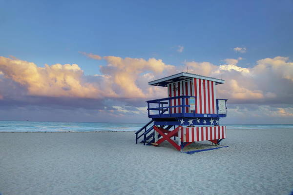 Democracy Photograph - Lifeguard Stand On South Beach, Miami by Angelo Cavalli / Robertharding