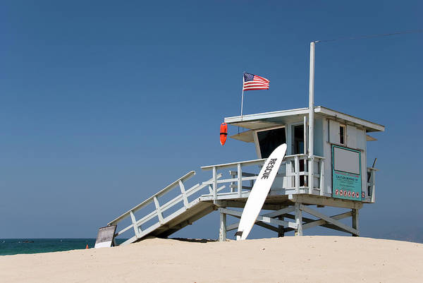 Protection Photograph - Lifeguard Station At The Beach by Frankvandenbergh