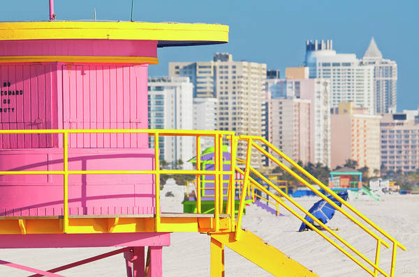 Wall Art - Photograph - Lifeguard Station On South Beach by Mitchell Funk