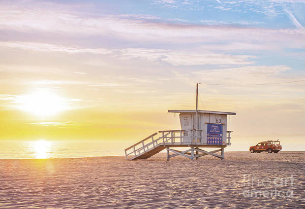 Wall Art - Photograph - Lifeguard Truck And Tower by Sarah Ainsworth