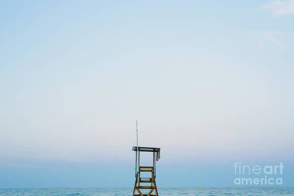Photograph - Lifeguard Watchtower On The Beach At Sunset. by Joaquin Corbalan