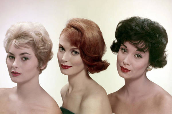 Hairstyle Photograph - Lifestyle. Hairstyles. Pic 1957. Three by Popperfoto