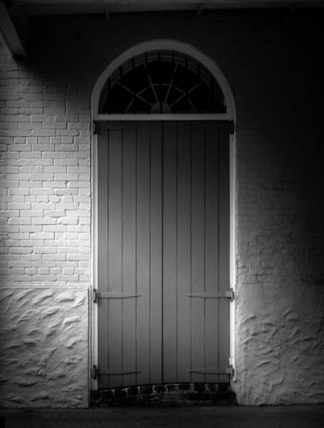 Wall Art - Photograph - Light Across Door In Black And White by Greg and Chrystal Mimbs