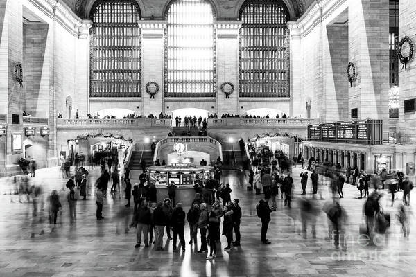 Photograph - Light And Shadows At Grand Central Terminal by John Rizzuto