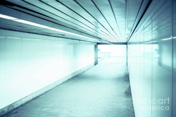 Photograph - Light At The End Of The Tunnel, Concept Of Final Goal by Joaquin Corbalan