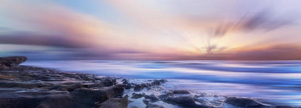 Photograph - Light At The Shore Panorama Dreamscape by Debra and Dave Vanderlaan