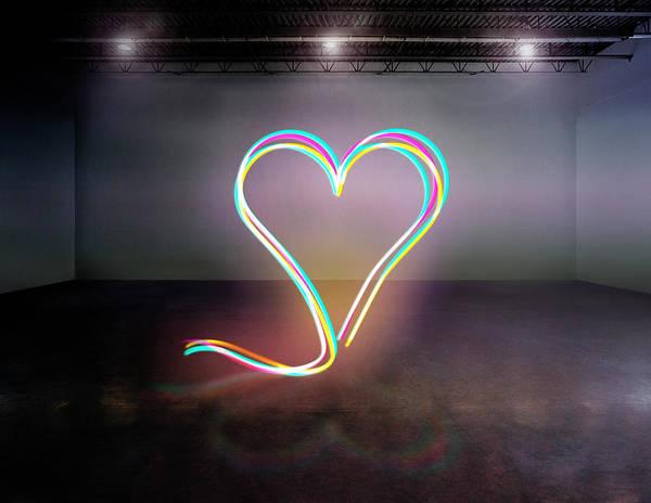 Light Photograph - Light Heart by Mina De La O