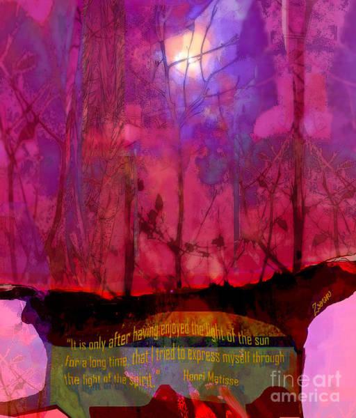 Wall Art - Mixed Media - Light Of Spirit Matisse by Zsanan Studio
