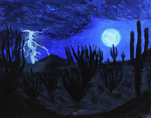 Painting - Light Of The Desert Night by Chance Kafka