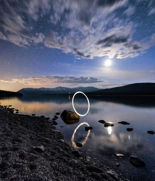 Photograph - Light Painting by Jake Sorensen
