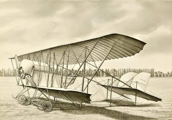 Flight Drawing - Light Plane by ArtMarketJapan