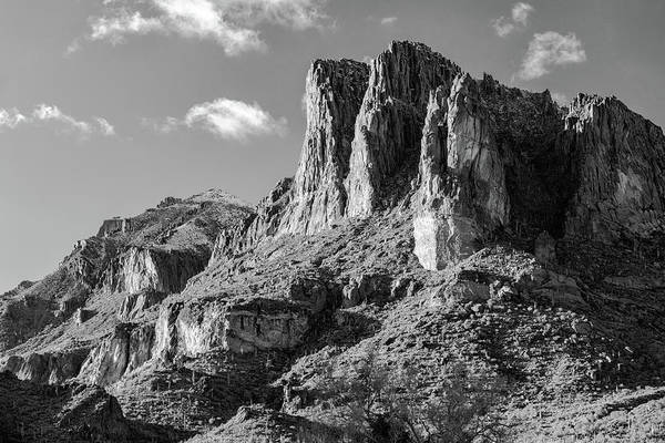 Superstition Mountains Photograph - Light Snow On The Superstition Mountains by Robert Hayton
